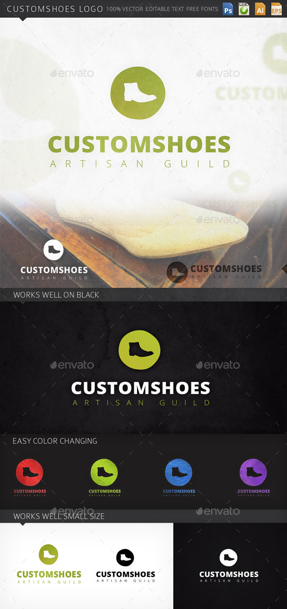 Customshoes Shoe Logo Template - Objects Logo Templates