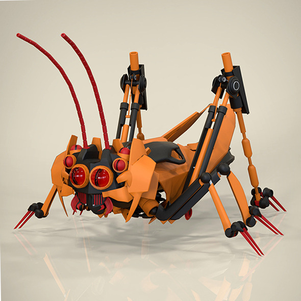 Robotic Grasshopper - 3DOcean Item for Sale