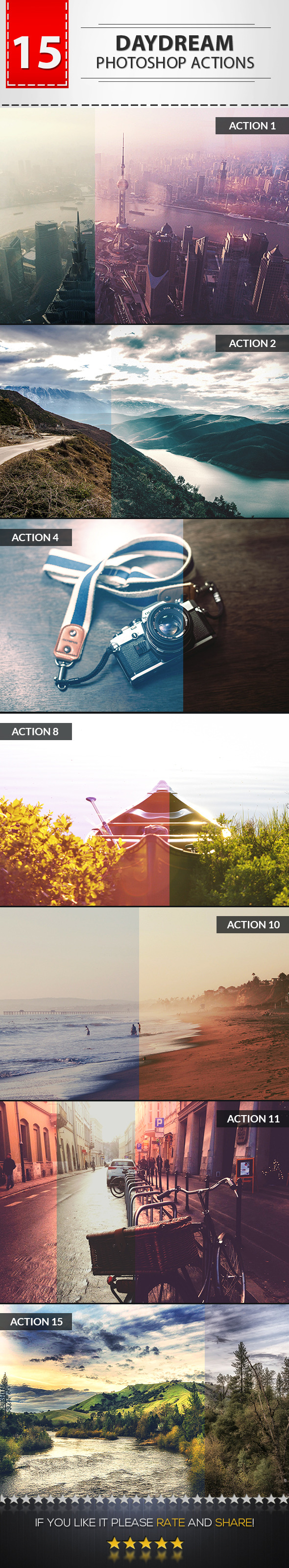 15 Daydream Photoshop Actions - Photo Effects Actions