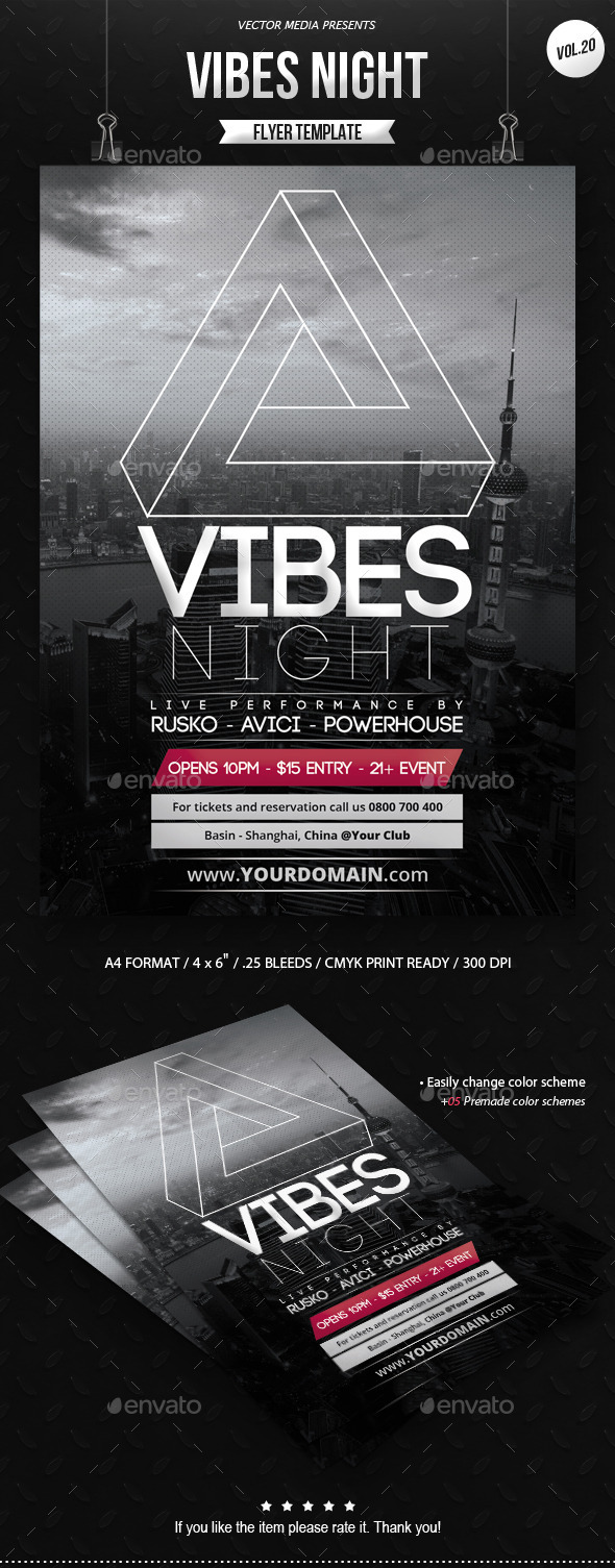 Vibes Night - Flyer [Vol.20] - Clubs & Parties Events