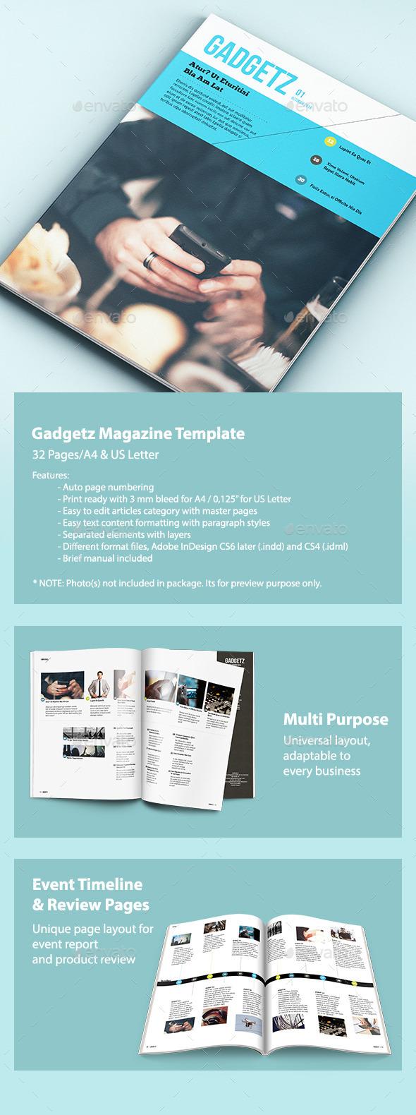 Gadgetz - Multipurpose Magazine - Magazines Print Templates
