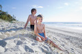 two young brothers at the beach - PhotoDune Item for Sale