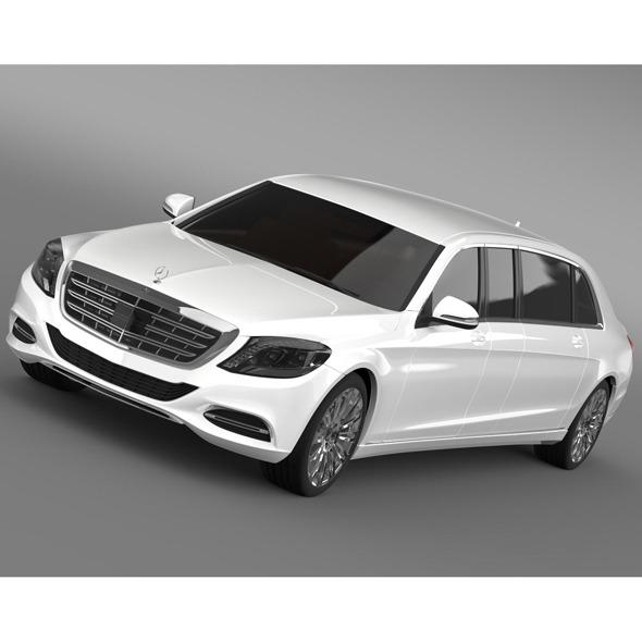 Mercedes Benz S Klasse Pullman Limousine 2016 - 3DOcean Item for Sale