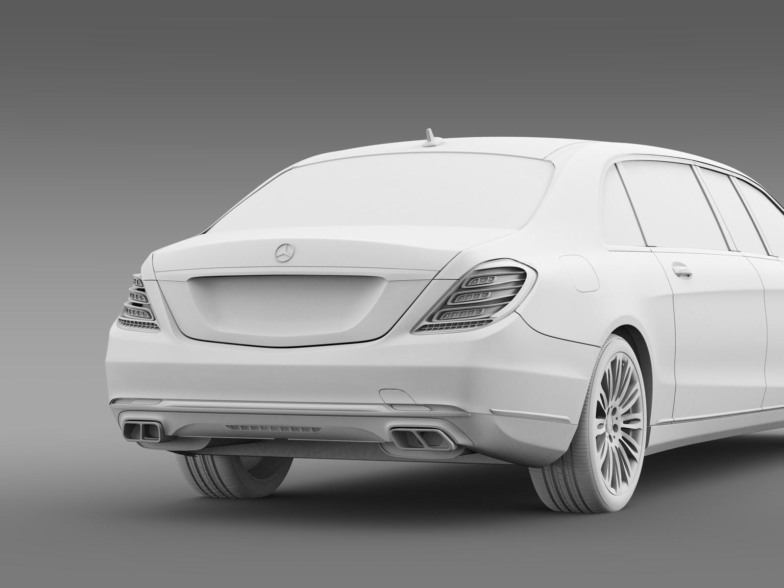 Mercedes benz s klasse pullman limousine 2016 by creator for Mercedes benz creator