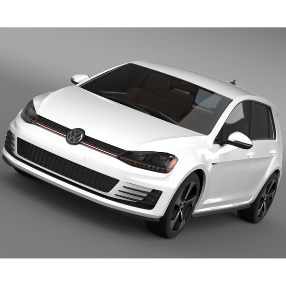 Volkswagen Golf GTI 5 door 2015 - 3DOcean Item for Sale