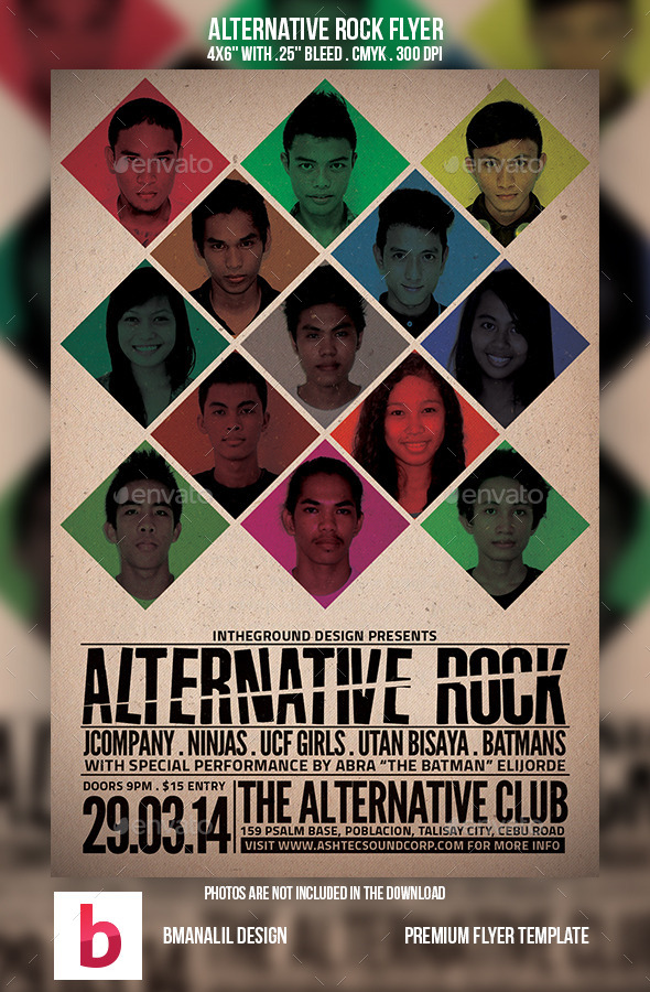 Alternative Rock Flyer - Concerts Events