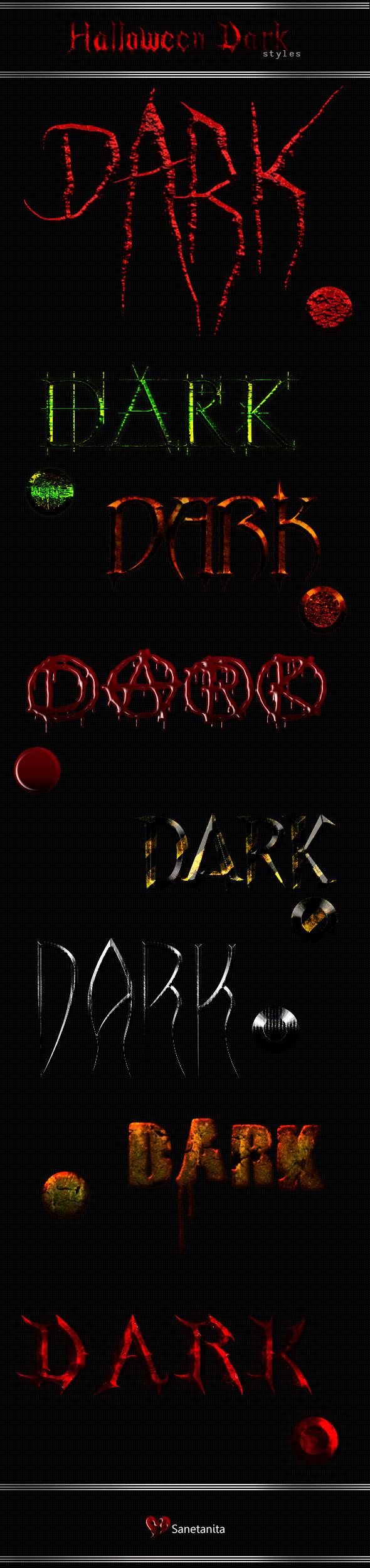 Halloween Dark Styles - Text Effects Styles