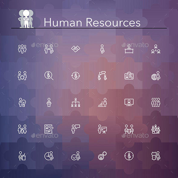 Human Resources Line Icons - Business Icons