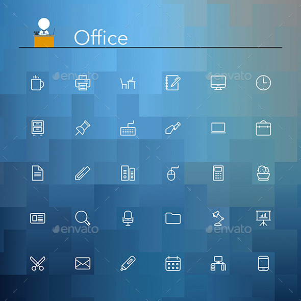 Office Line Icons - Business Icons