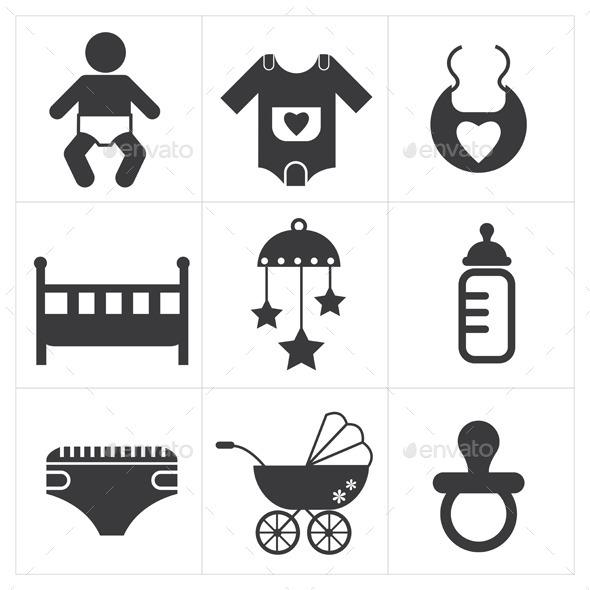 Baby Stuff Icon  - Web Elements Vectors