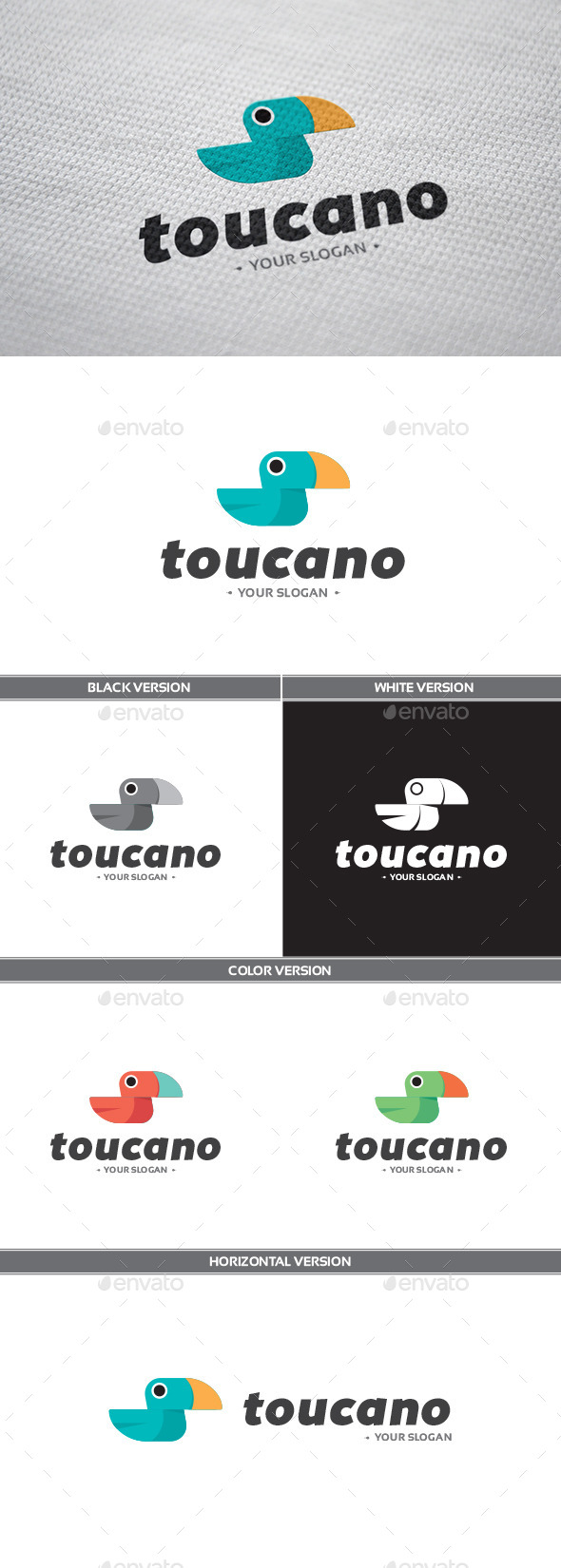 Toucano Logo - Animals Logo Templates