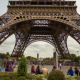 The Foot of the Eiffel Tower & Tourists, Paris