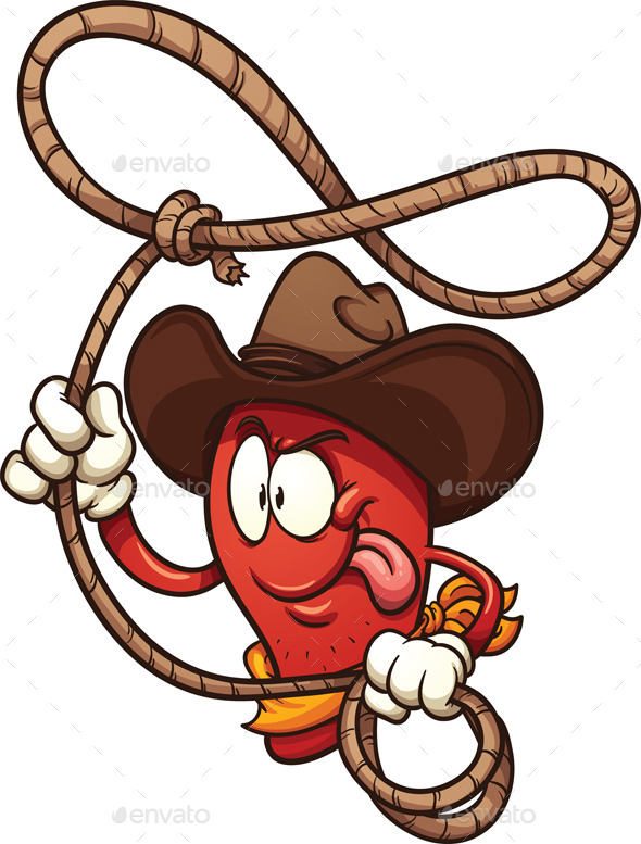 Cowboy Chili Pepper - Food Objects