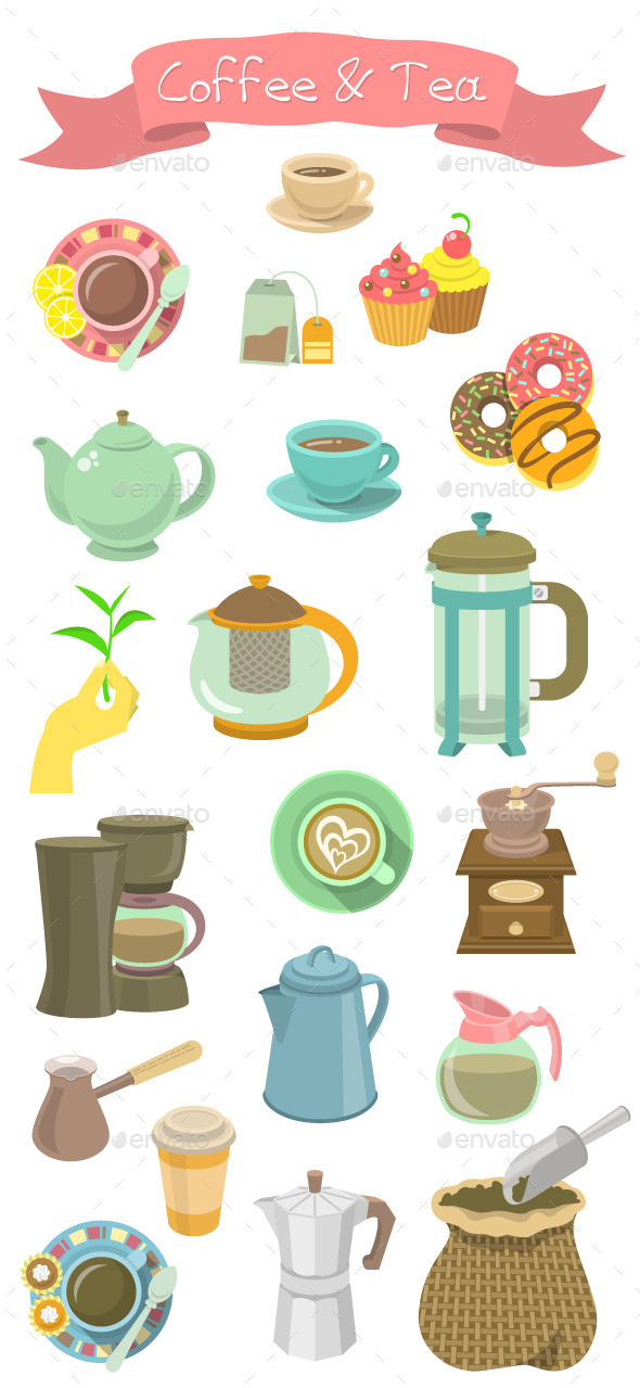 Coffee and Tea Collection - Man-made Objects Objects