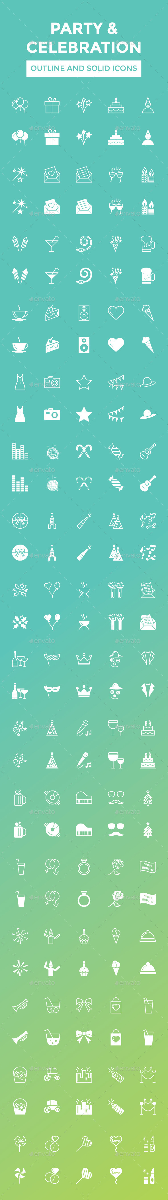 Party and Celebration Vector Icons - Miscellaneous Icons
