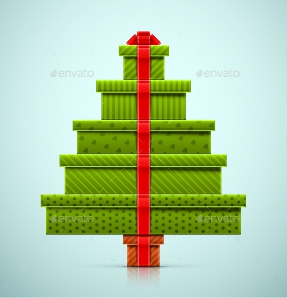 Christmas Tree of Gifts - Christmas Seasons/Holidays