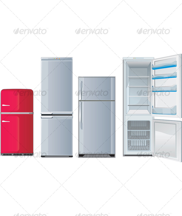 Different refrigerators - Man-made Objects Objects