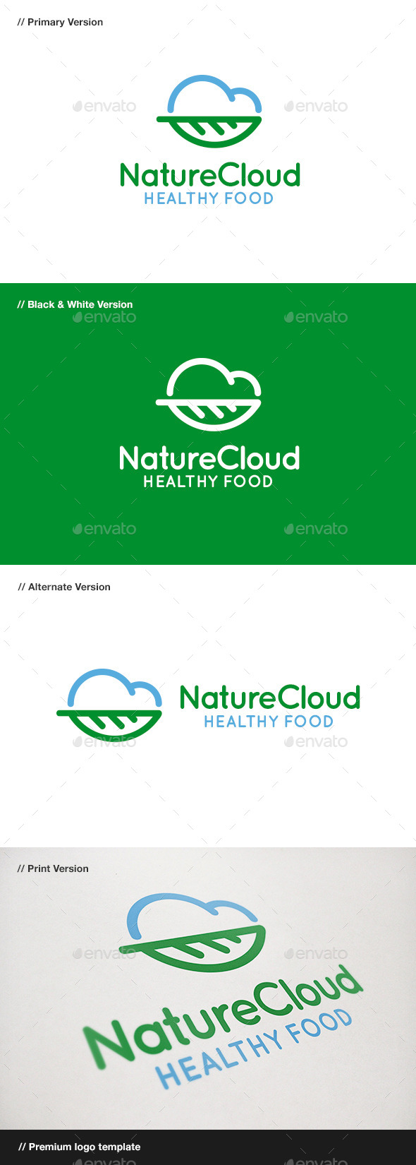 Nature Cloud Logo - Nature Logo Templates