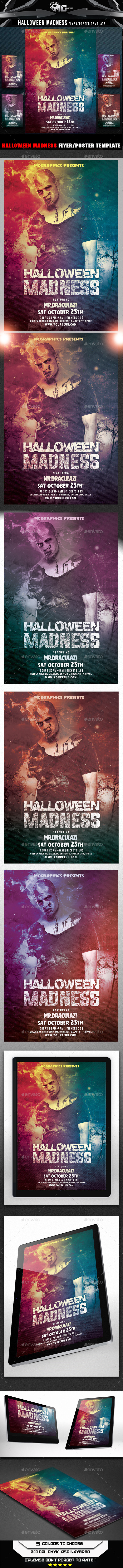 Halloween Madness Flyer Template - Flyers Print Templates