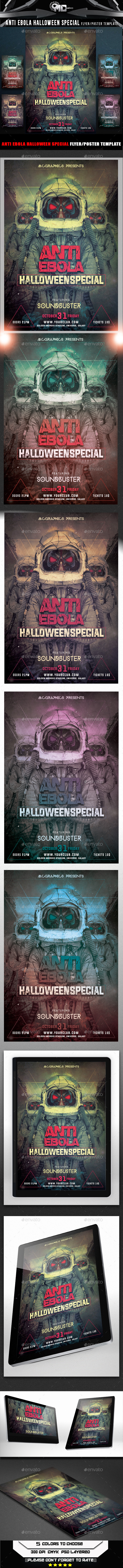 Anti Ebola Halloween Special Flyer Template - Flyers Print Templates