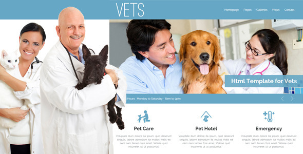 VETS - Veterinary Medical Health Clinic Template - Health & Beauty Retail