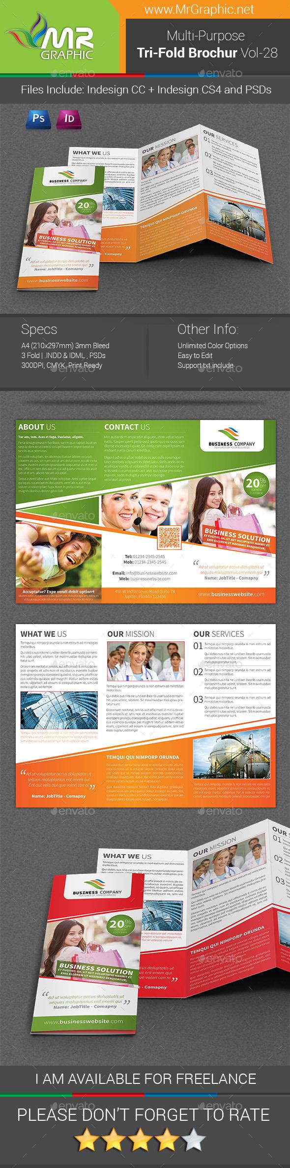 Multipurpose Business Tri-Fold Brochure Vol-28 - Corporate Brochures