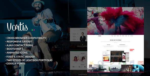 Vortis – Responsive One Page HTML Template