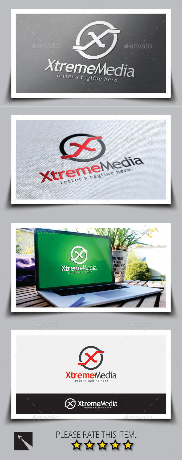 Xtreme Media Letter (X) Logo Template - Letters Logo Templates