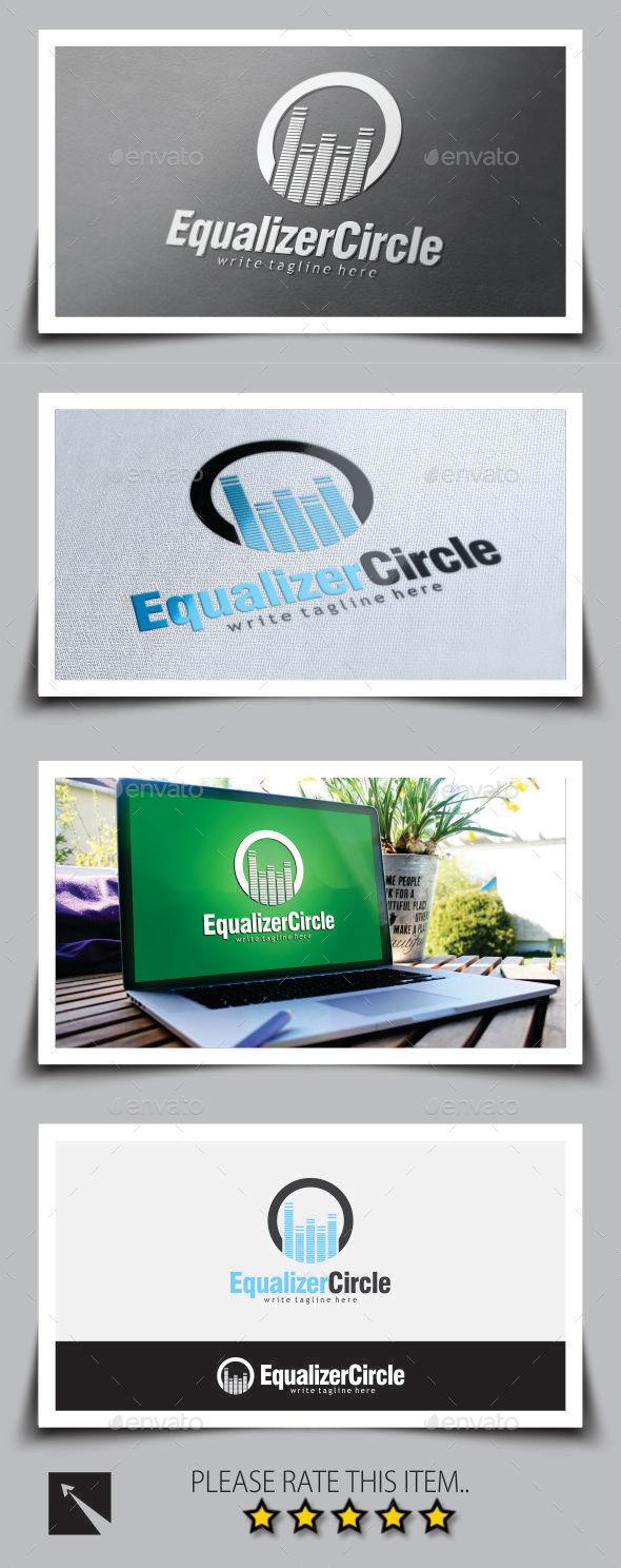 Equalizer Circle Logo Template - Symbols Logo Templates