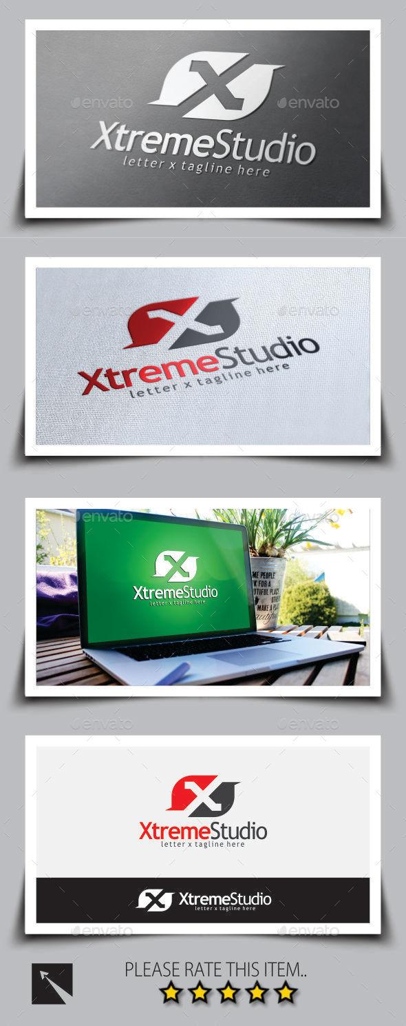 Xtreme Studio Letter (X) Logo Template - Letters Logo Templates