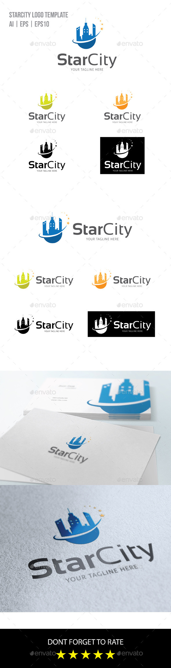 Star City Logo - Buildings Logo Templates