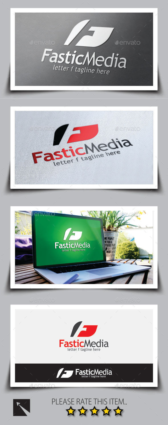 Fastic Media Letter (F) Logo Template - Letters Logo Templates