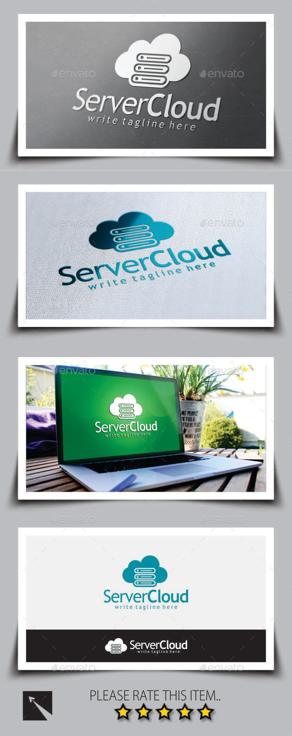Server Cloud Logo Template - Symbols Logo Templates
