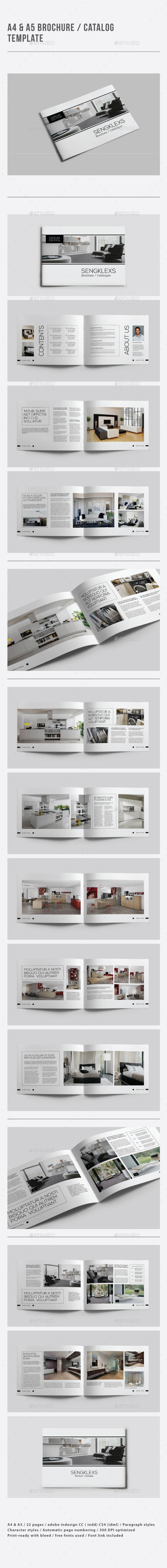 A4 & A5 Brochure / Catalogue Template - Catalogs Brochures