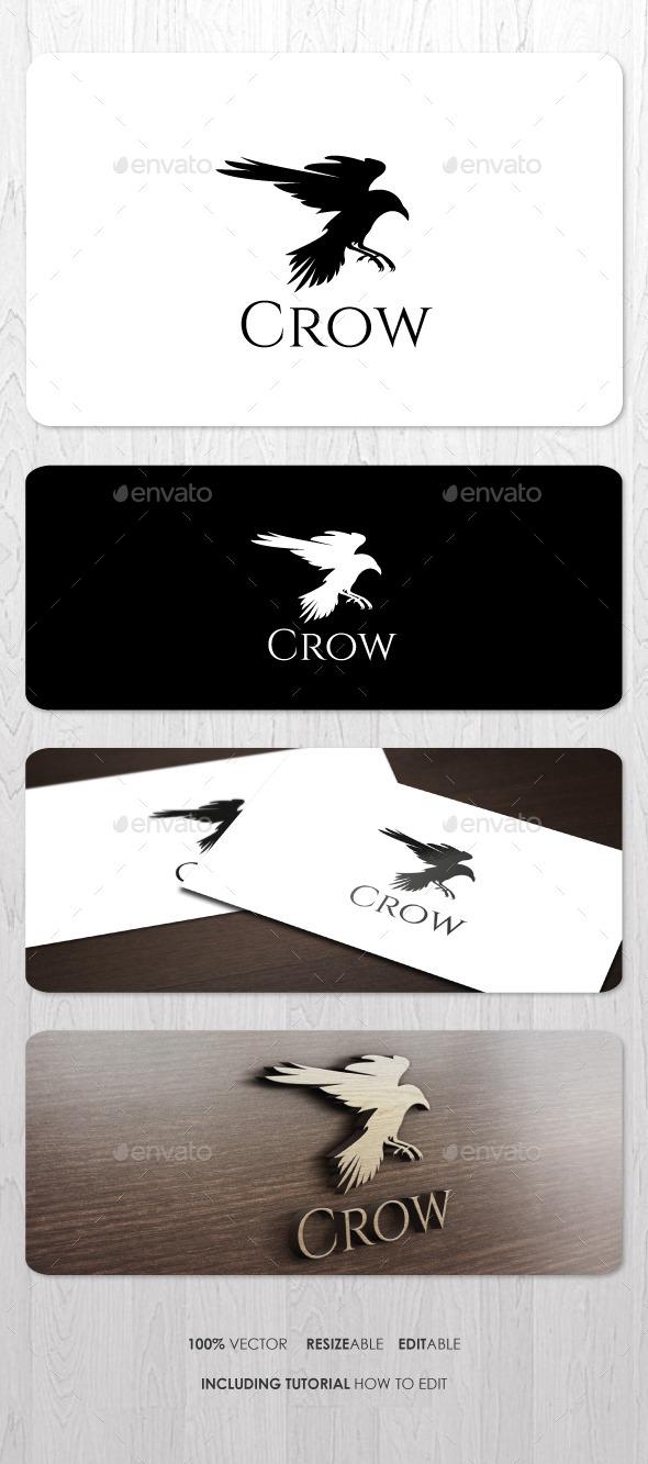 Crow Logo - Animals Logo Templates