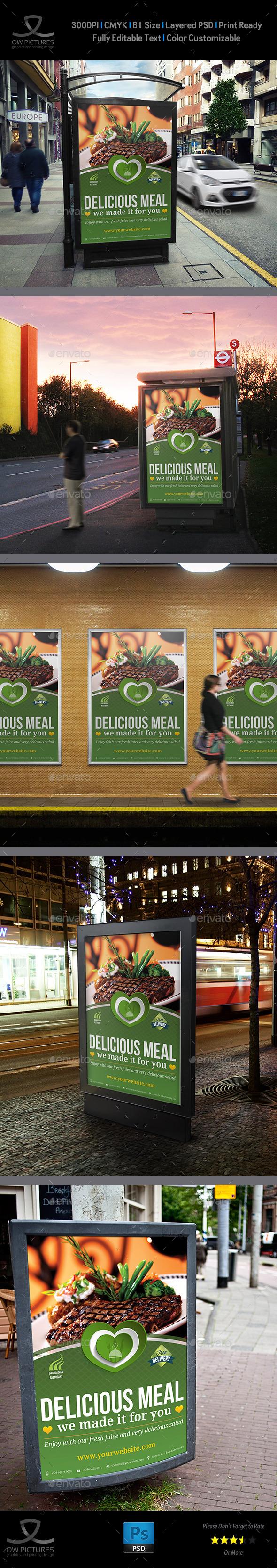 Restaurant Poster Template Vol.2 - Signage Print Templates