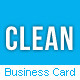 Clean Professional Business Card - GraphicRiver Item for Sale