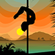 Pole Dancers on the Beach - GraphicRiver Item for Sale