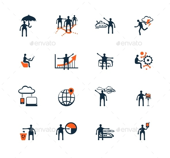 Business People Icons. Management, Human Resources - Business Icons