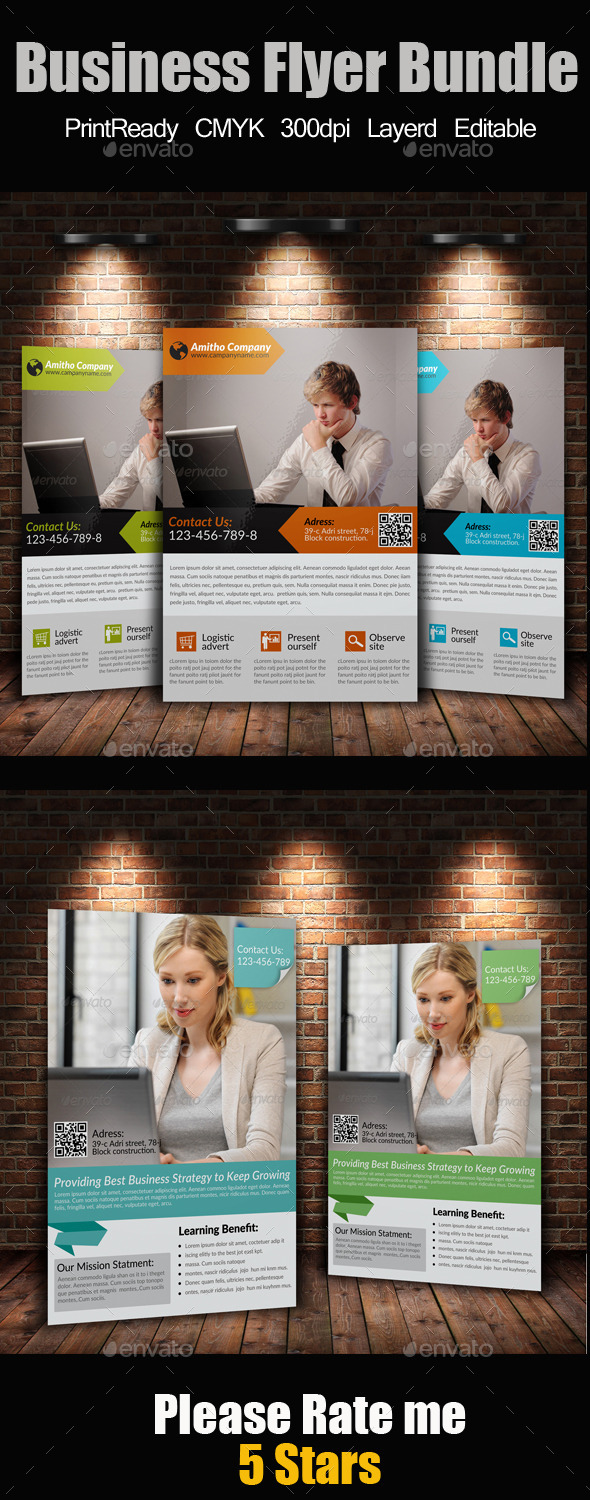 A4 Business Flyer Bundle - Corporate Flyers