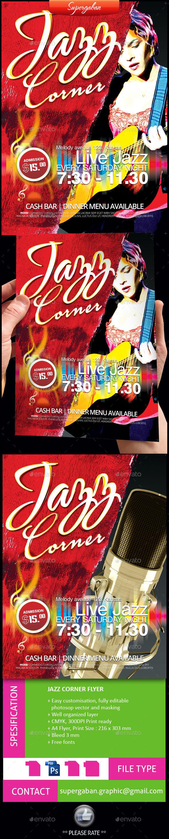 Jazz Corner Flyer - Concerts Events
