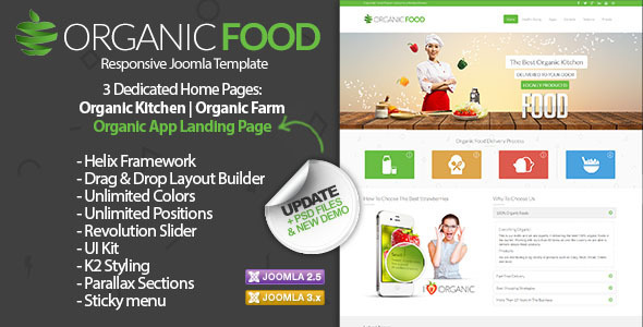 Organic Food – Responsive Joomla Template