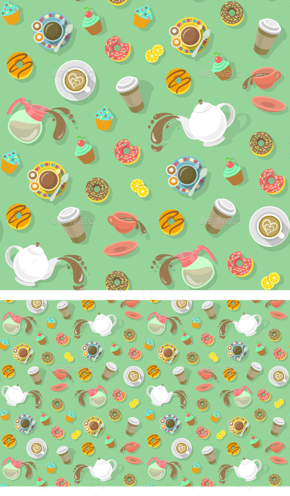 Coffee and Tea Pattern - Patterns Decorative