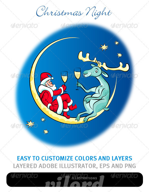 Christmas Night - Characters Vectors