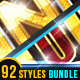 92 Luxury Gold Metallic Text Effects Bundle - GraphicRiver Item for Sale