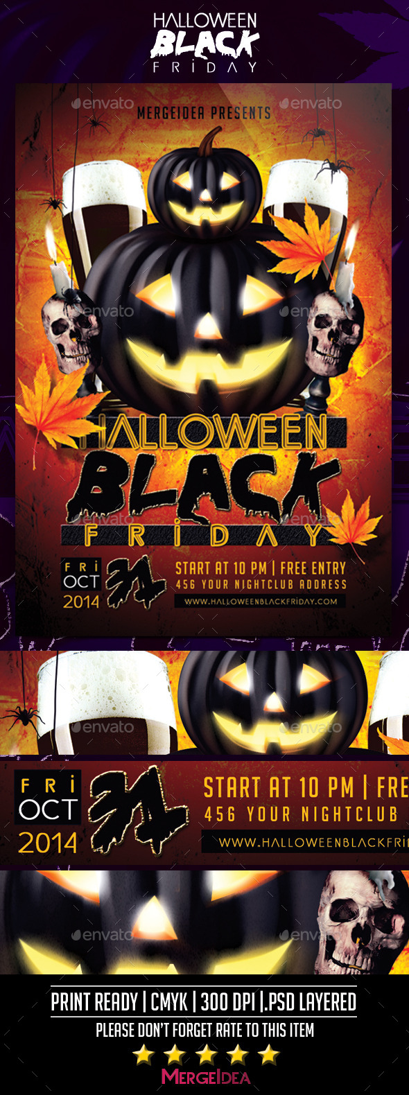 Halloween Black Friday Flyer - Events Flyers