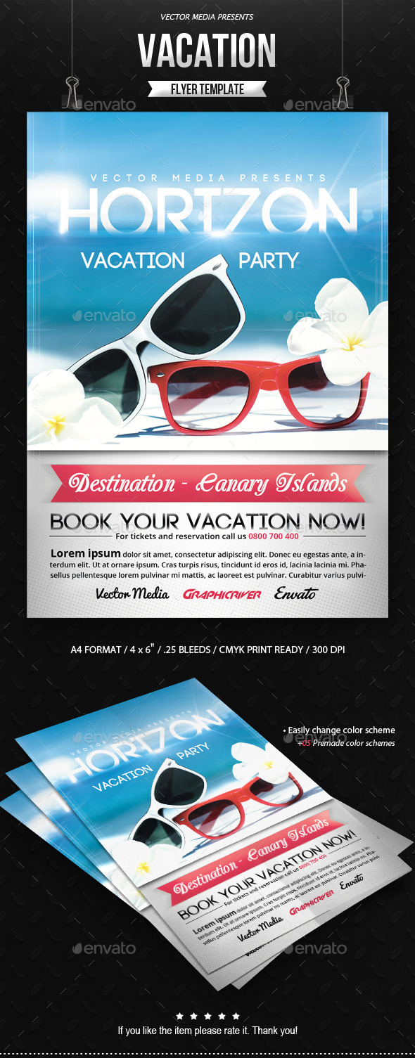 Vacation - Flyer - Holidays Events