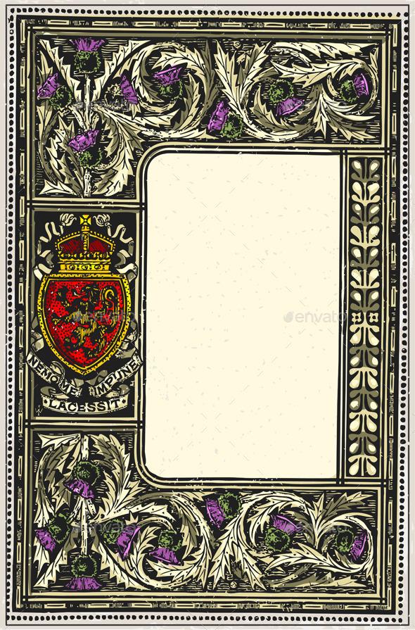 Vintage Page with Placeholder Menu - Decorative Vectors