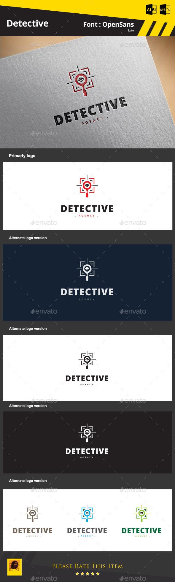Detective Logo - Symbols Logo Templates