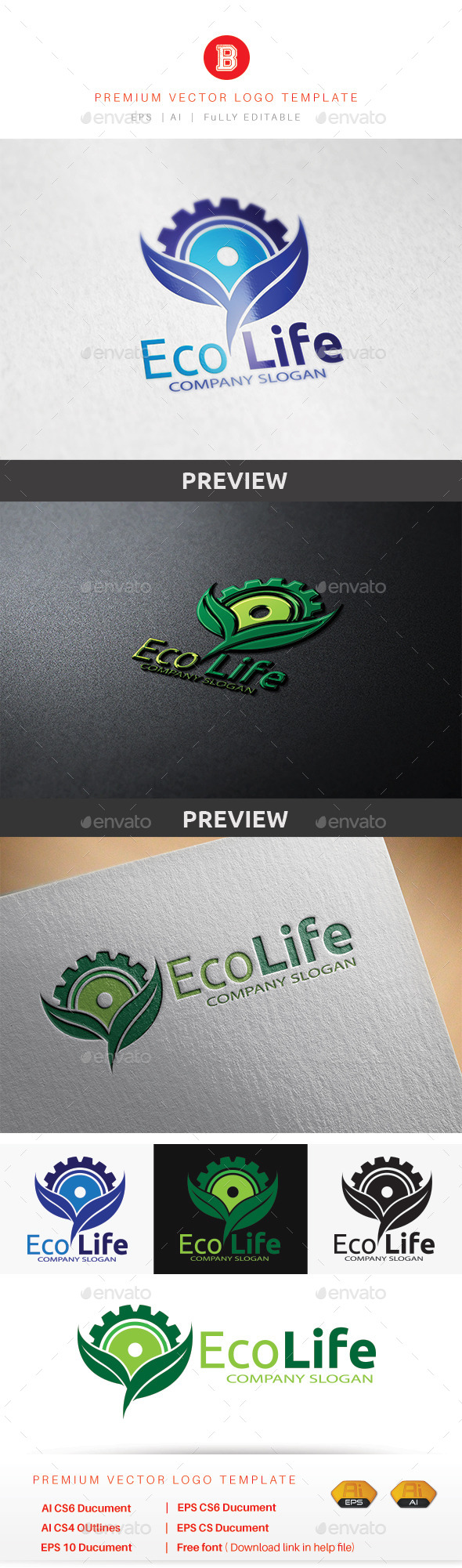 Eco Life - Nature Logo Templates